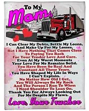 """Trucker's Mom  Premium Large Fleece Blanket - 60"""" x 80"""" front"""