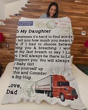 """Trucker's Daughter Premium Large Fleece Blanket - 60"""" x 80"""" aos-coral-fleece-blanket-60x80-lifestyle-front-04"""