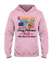I Am The Crazy Veteran's Wife Hooded Sweatshirt front