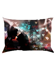 GIFT FOR A LINEMAN'S GIRLFRIEND - PREMIUM Rectangular Pillowcase back
