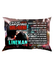 GIFT FOR A LINEMAN'S GIRLFRIEND - PREMIUM Rectangular Pillowcase front
