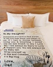 "Chef's Daughter  Premium Large Fleece Blanket - 60"" x 80"" aos-coral-fleece-blanket-60x80-lifestyle-front-02"