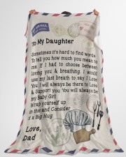 "Chef's Daughter  Premium Large Fleece Blanket - 60"" x 80"" aos-coral-fleece-blanket-60x80-lifestyle-front-10"