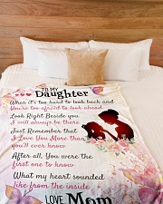 """Gift For Daughter- Cyber Monday Sale Large Fleece Blanket - 60"""" x 80"""" aos-coral-fleece-blanket-60x80-lifestyle-front-02"""