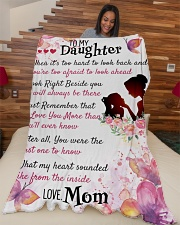 """Gift For Daughter- Cyber Monday Sale Large Fleece Blanket - 60"""" x 80"""" aos-coral-fleece-blanket-60x80-lifestyle-front-04"""
