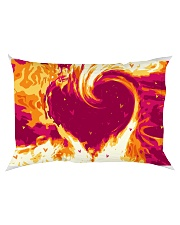 GIFT FOR A FIREFIGHTER'S WIFE - PREMIUM Rectangular Pillowcase back
