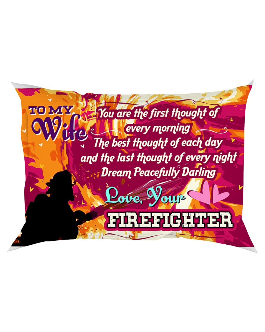 GIFT FOR A FIREFIGHTER'S WIFE - PREMIUM Rectangular Pillowcase
