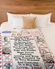 "Firefighter's Girlfriend Premium Large Fleece Blanket - 60"" x 80"" aos-coral-fleece-blanket-60x80-lifestyle-front-02"