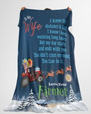 "Farmer's Wife  Premium Large Fleece Blanket - 60"" x 80"" aos-coral-fleece-blanket-60x80-lifestyle-front-10"