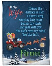 "Farmer's Wife  Premium Large Fleece Blanket - 60"" x 80"" front"