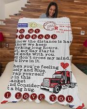"Gift For Hubby Premium Large Fleece Blanket - 60"" x 80"" aos-coral-fleece-blanket-60x80-lifestyle-front-04"