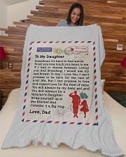 """Veteran's Daughter Large Fleece Blanket - 60"""" x 80"""" aos-coral-fleece-blanket-60x80-lifestyle-front-04"""