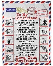 """Fishing Lover's Girlfriend  Premium Large Fleece Blanket - 60"""" x 80"""" front"""