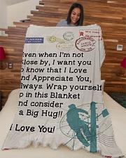 "Lineman's Wife  Premium Large Fleece Blanket - 60"" x 80"" aos-coral-fleece-blanket-60x80-lifestyle-front-04"