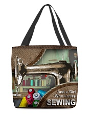 SEWING LADY All-over Tote back