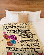 """Gift For Daughter - Black Friday Sale Large Fleece Blanket - 60"""" x 80"""" aos-coral-fleece-blanket-60x80-lifestyle-front-02"""
