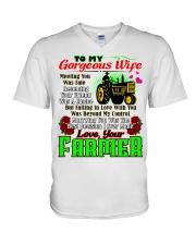 Farmer's Wife V-Neck T-Shirt tile