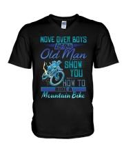 Mountain Biking V-Neck T-Shirt tile