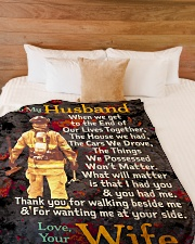 """Gift For a Firefighter  - Black Friday Sale Large Fleece Blanket - 60"""" x 80"""" aos-coral-fleece-blanket-60x80-lifestyle-front-02"""