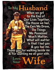 "Gift For a Firefighter  - Black Friday Sale Large Fleece Blanket - 60"" x 80"" front"