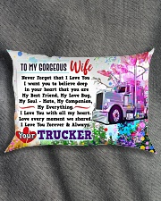 GIFT FOR A TRUCKER'S  WIFE - PREMIUM Rectangular Pillowcase aos-pillow-rectangle-front-lifestyle-1