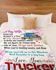 "TRUCKER'S WIFE Premium Large Fleece Blanket - 60"" x 80"" aos-coral-fleece-blanket-60x80-lifestyle-front-02"