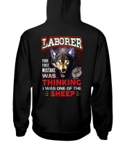 Laborer - I'm the Wolf Hooded Sweatshirt back