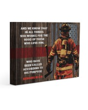 FIREFIGHTER - Premium 14x11 Gallery Wrapped Canvas Prints front