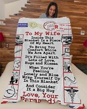 "Paramedic's Wife  Premium Large Fleece Blanket - 60"" x 80"" aos-coral-fleece-blanket-60x80-lifestyle-front-04"