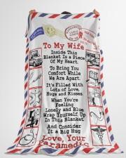 "Paramedic's Wife  Premium Large Fleece Blanket - 60"" x 80"" aos-coral-fleece-blanket-60x80-lifestyle-front-10"