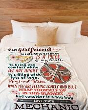 "MECHANIC'S GIRLFRIEND- PREMIUM Large Fleece Blanket - 60"" x 80"" aos-coral-fleece-blanket-60x80-lifestyle-front-02"