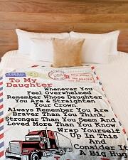 """TRUCKER DAUGHTER  Premium Large Fleece Blanket - 60"""" x 80"""" aos-coral-fleece-blanket-60x80-lifestyle-front-02"""
