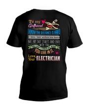 ELECTRICIAN'S  GIRLFRIEND V-Neck T-Shirt thumbnail