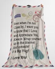 "Veteran's Wife  Premium Large Fleece Blanket - 60"" x 80"" aos-coral-fleece-blanket-60x80-lifestyle-front-10"