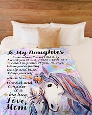 """GIFT FOR DAUGHTER  Premium Large Fleece Blanket - 60"""" x 80"""" aos-coral-fleece-blanket-60x80-lifestyle-front-02"""