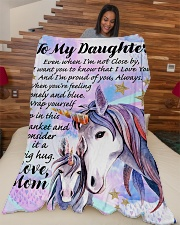 """GIFT FOR DAUGHTER  Premium Large Fleece Blanket - 60"""" x 80"""" aos-coral-fleece-blanket-60x80-lifestyle-front-04"""
