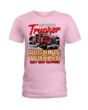 Retired Trucker Ladies T-Shirt tile