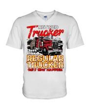 Retired Trucker V-Neck T-Shirt tile