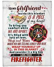 """FIREFIGHTER'S GIRLFRIEND- PREMIUM Large Fleece Blanket - 60"""" x 80"""" front"""