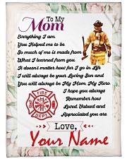 "Firefighter's Mom Premium Large Fleece Blanket - 60"" x 80"" front"