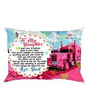 GIFT FOR A TRUCKER'S DAUGHTER - PREMIUM Rectangular Pillowcase front