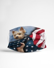 Yorkie Lover Cloth face mask aos-face-mask-lifestyle-22