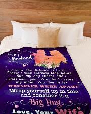 "Gift For Husband  Premium Large Fleece Blanket - 60"" x 80"" aos-coral-fleece-blanket-60x80-lifestyle-front-02"