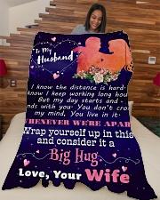 "Gift For Husband  Premium Large Fleece Blanket - 60"" x 80"" aos-coral-fleece-blanket-60x80-lifestyle-front-04"