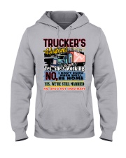 Lady Trucker's Husband Hooded Sweatshirt front