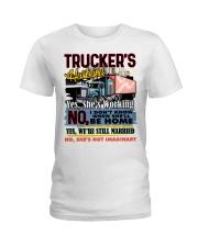 Lady Trucker's Husband Ladies T-Shirt tile