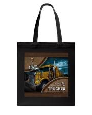 TRUCKER'S GIRL- TOTE BAG Tote Bag back