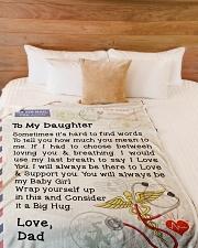 "Nurse Daughter  Premium Large Fleece Blanket - 60"" x 80"" aos-coral-fleece-blanket-60x80-lifestyle-front-02"