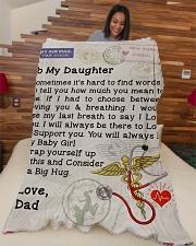 "Nurse Daughter  Premium Large Fleece Blanket - 60"" x 80"" aos-coral-fleece-blanket-60x80-lifestyle-front-04"