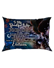 GIFT FOR AN ELECTRICIAN'S WIFE - PREMIUM Rectangular Pillowcase back